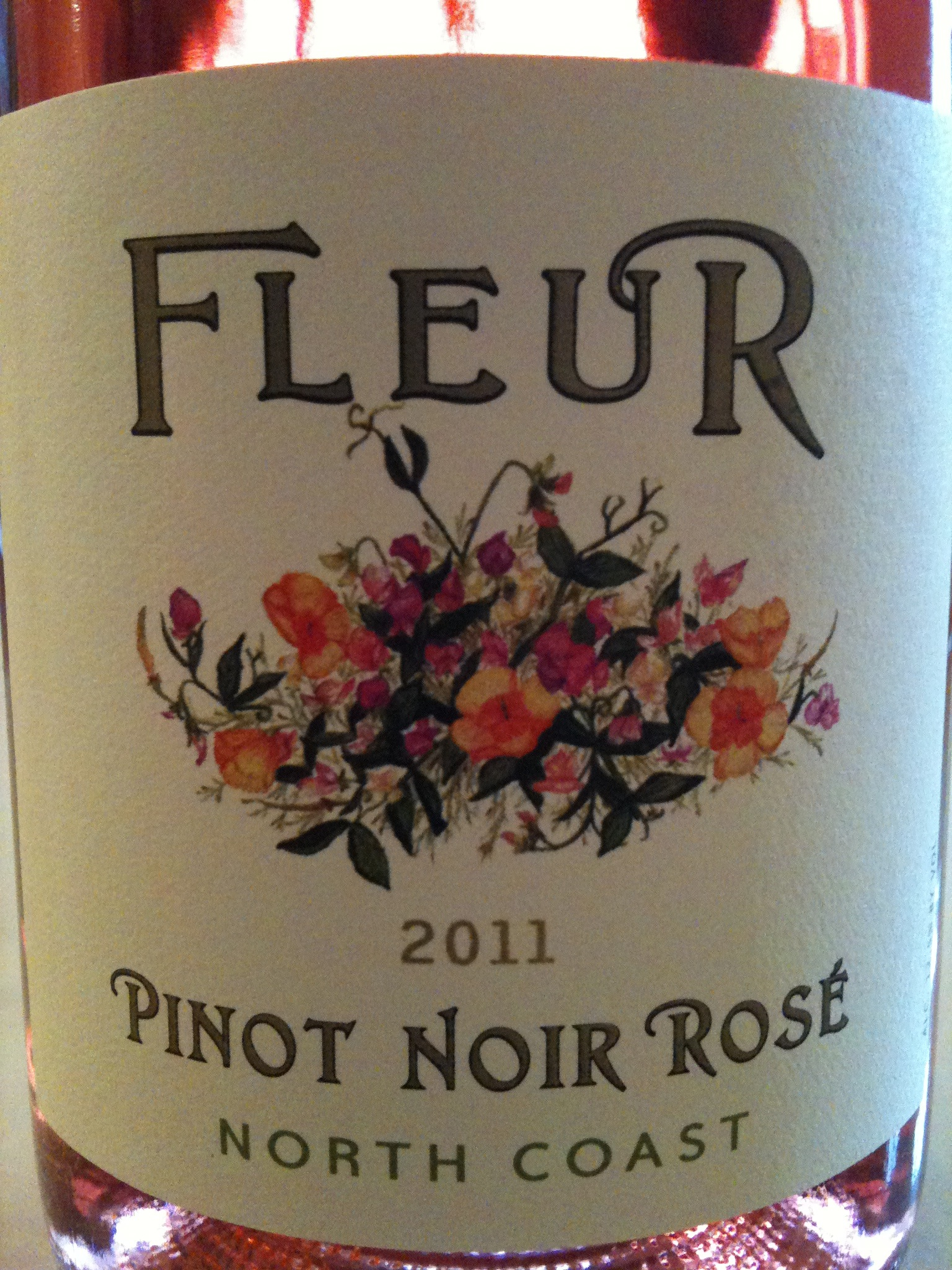 Fleur Pinot Noir Rosé North Coast 2011 - Wine Review
