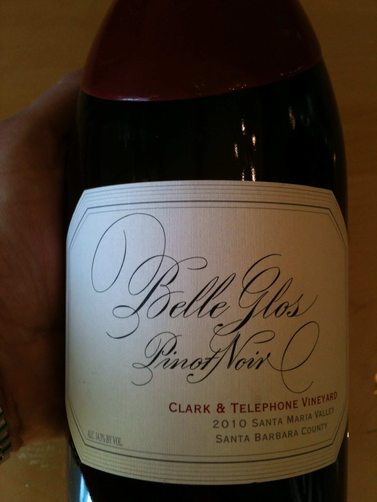 Belle Glos Pinot Noir Clark & Telegraph Vineyards 2010 - Wine Review