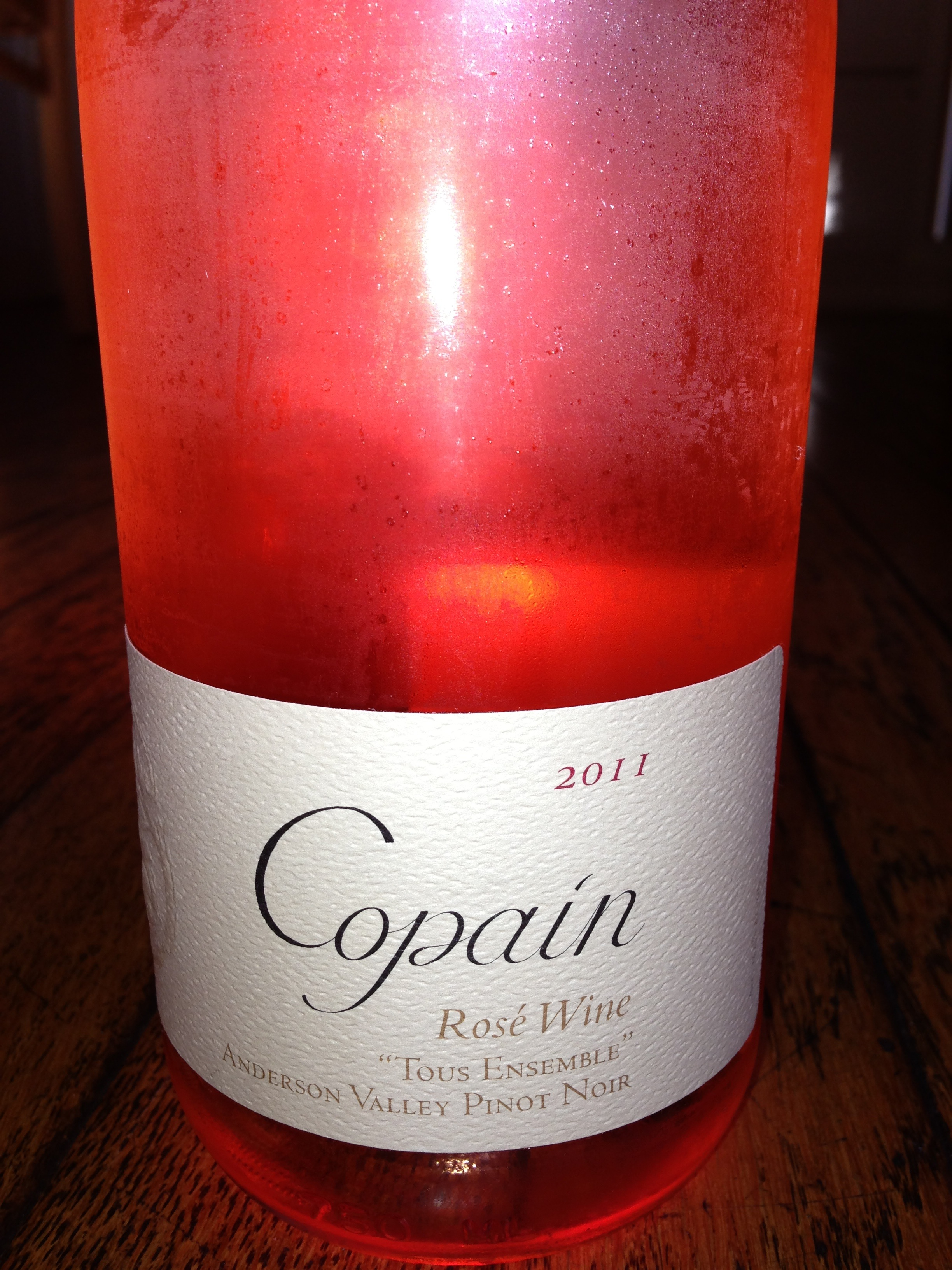"Copain 2011 Rose Wine ""Tous Ensemble"" Anderson Valley Pinot Noir"