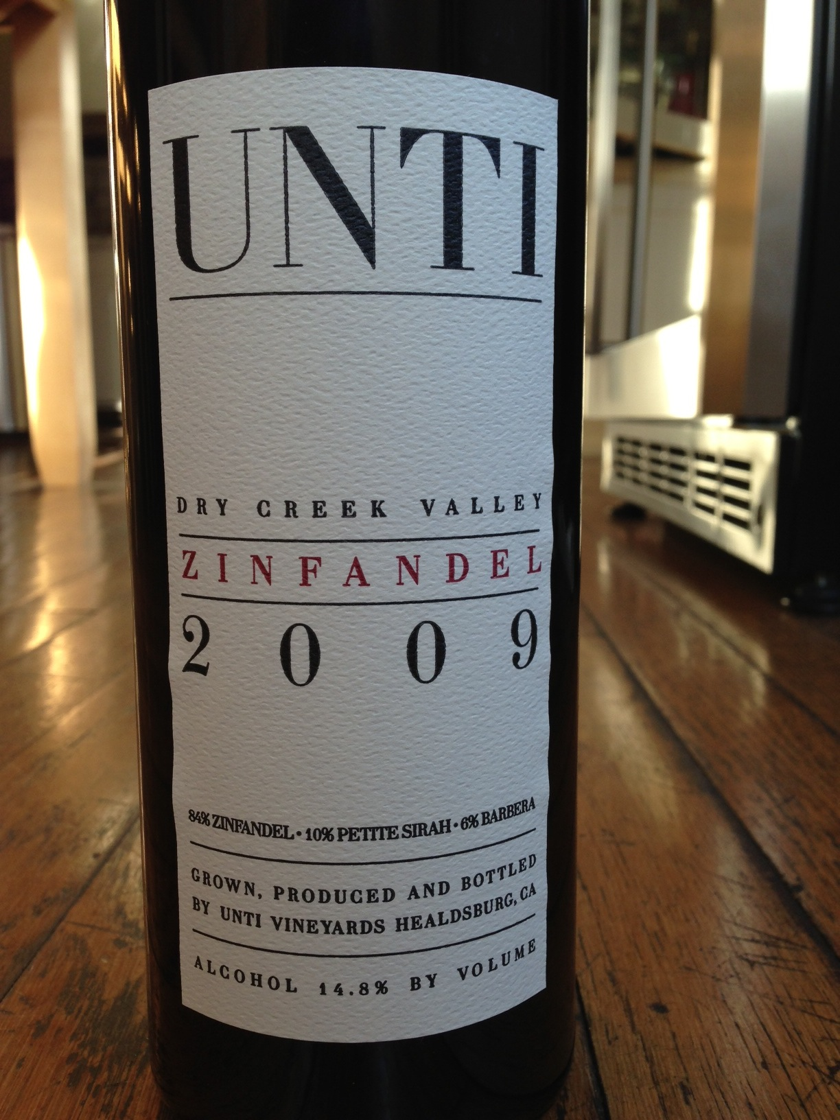 Unti 2009 Zinfandel Dry Creek Valley
