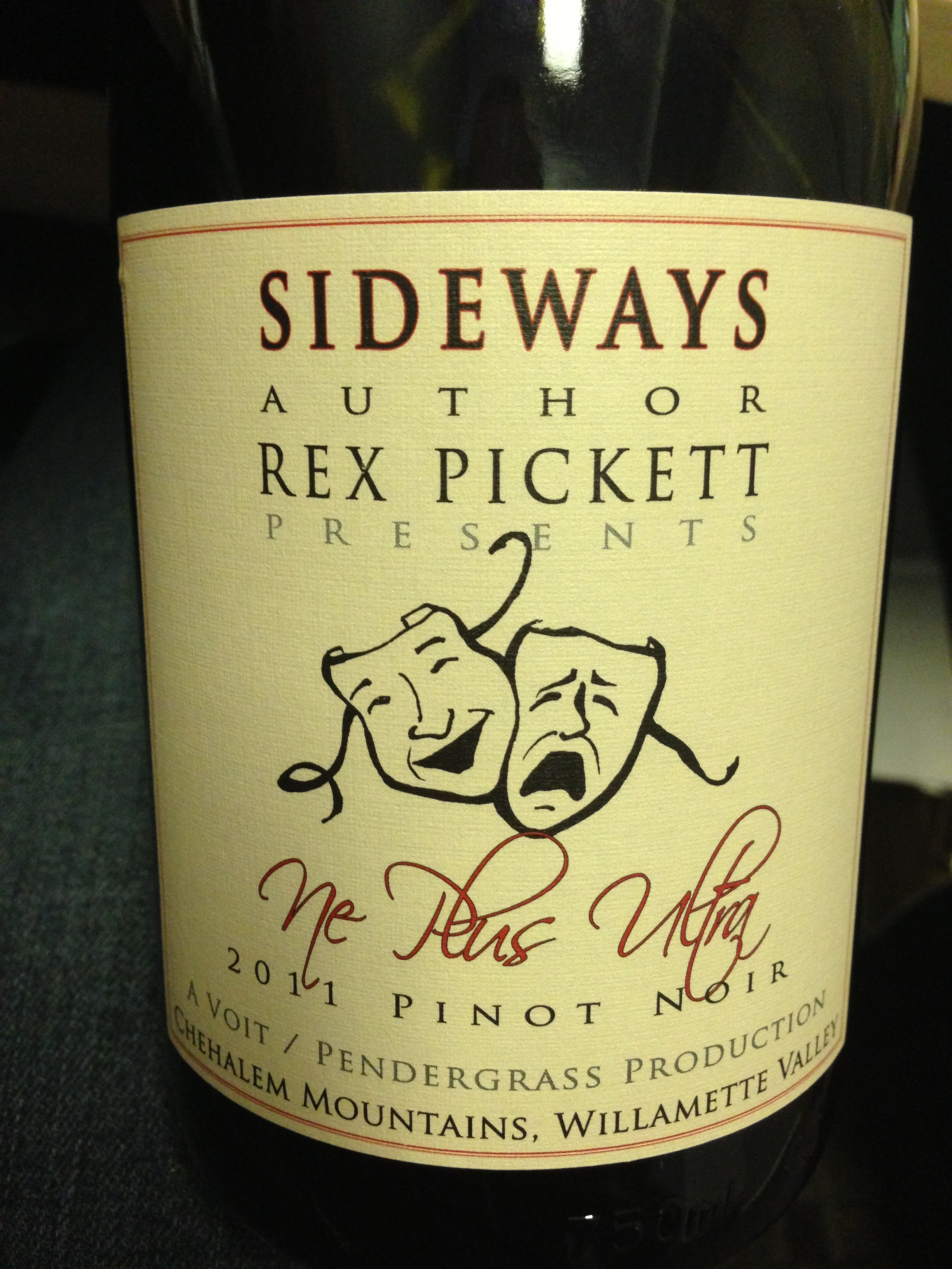 Rex Pickett presents: Ne Plus Ultra 2011 Pinot Noir